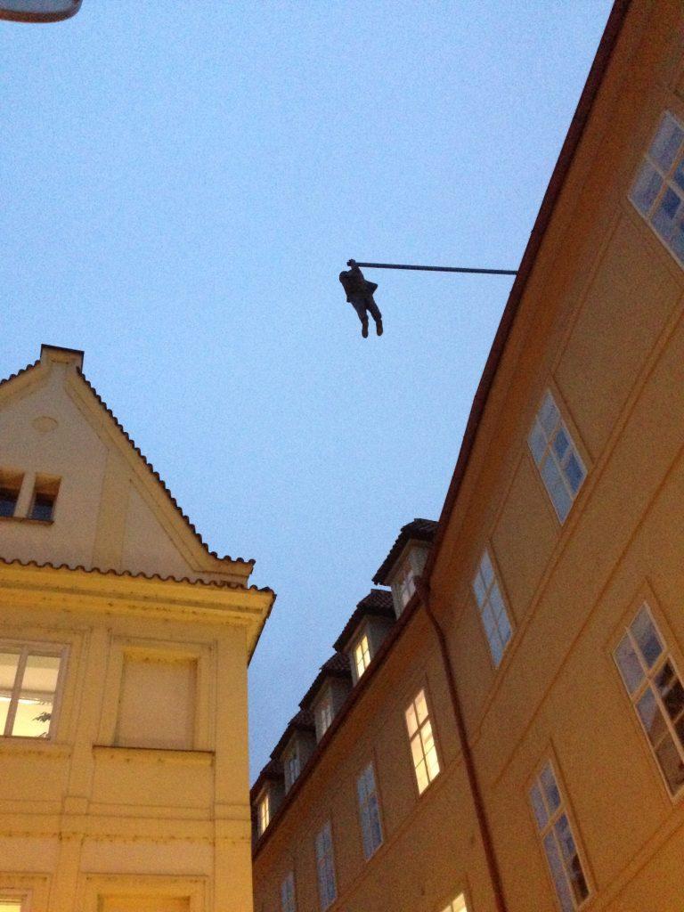"""David Černý - """"Man Hanging Out"""""""