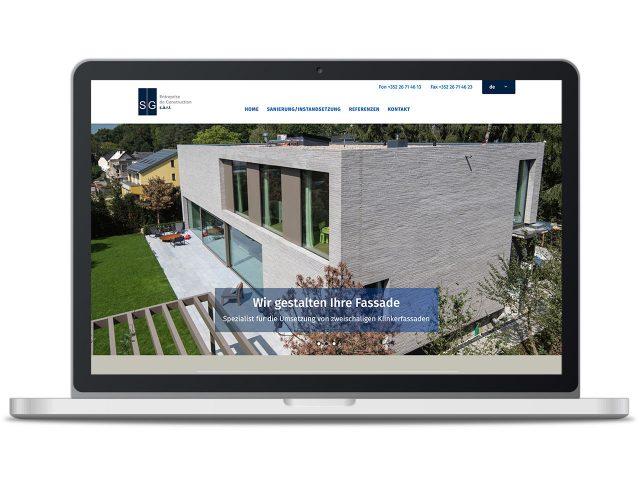 Piccobello Webdesign Referenz Klinkerbau Luxembourg