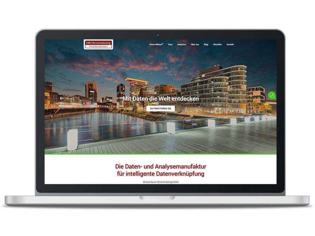 Piccobello Webdesign Referenz MB Micromarketing Düsseldorf
