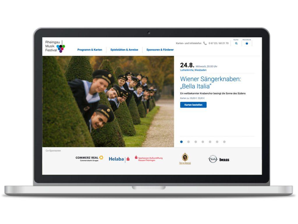 Piccobello Webdesign Referenz Rheingau Musik Festival