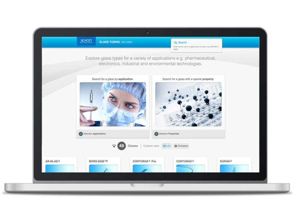 Piccobello Webdesign Referenz Schott Tubing Explorer