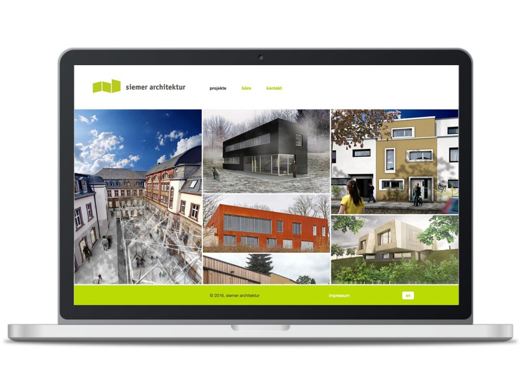 Piccobello Webdesign Referenz Siemer Architektur Trier