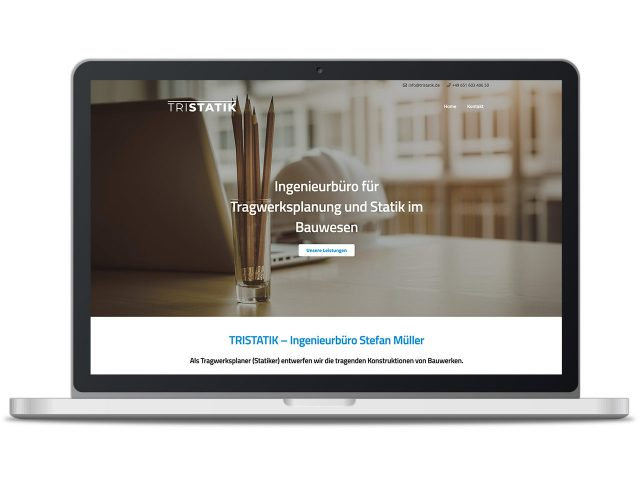 Piccobello Webdesign Referenz TRISTATIK Statiker Trier