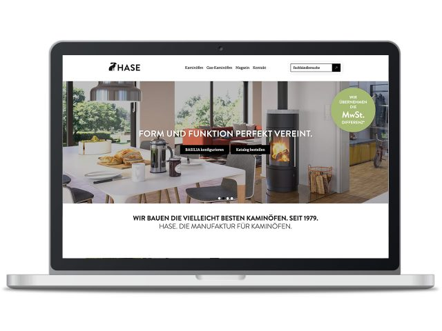 Piccobello Webdesign Referenz HASE Kaminofenbau Trier