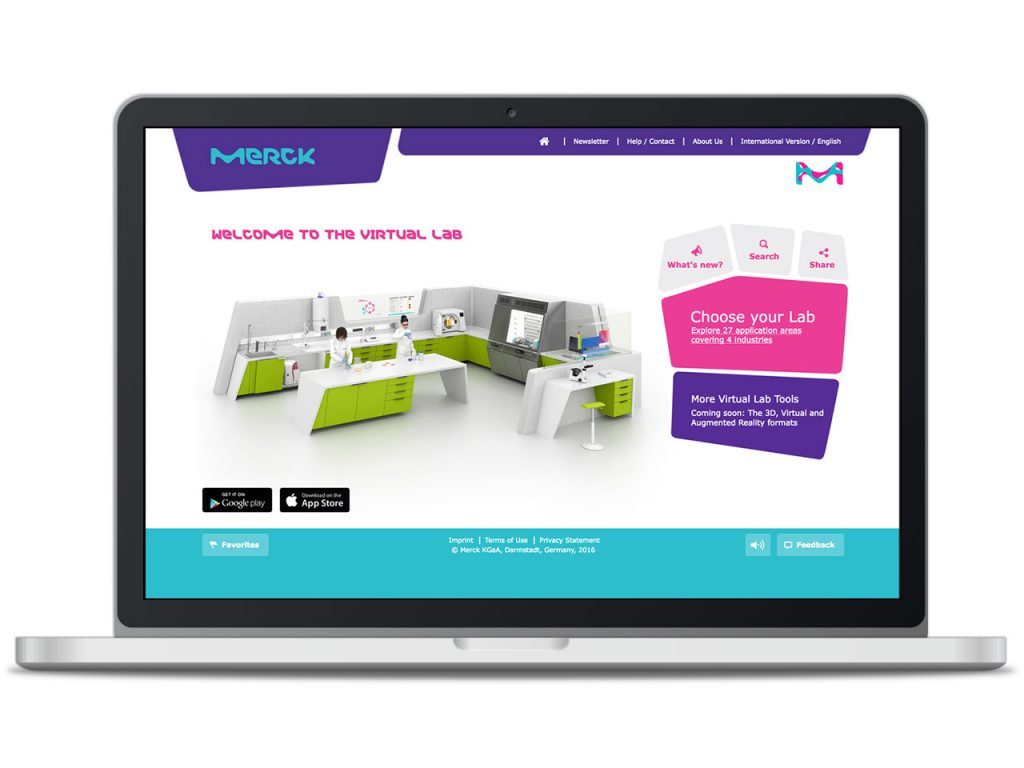 Piccobello Website Referenz Merck Virtual Lab Darmstadt