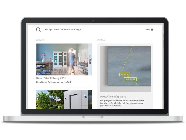 Piccobello Webdesign Referenz Q Kreativgesellschaft Wiesbaden
